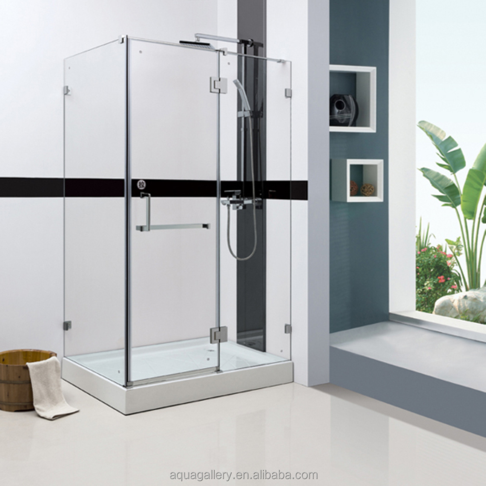 Acrylic Bath Tray Tempered Glass Shower Room
