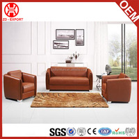 American style living room furniture competitive price simple 1+2+3 leather sofa set
