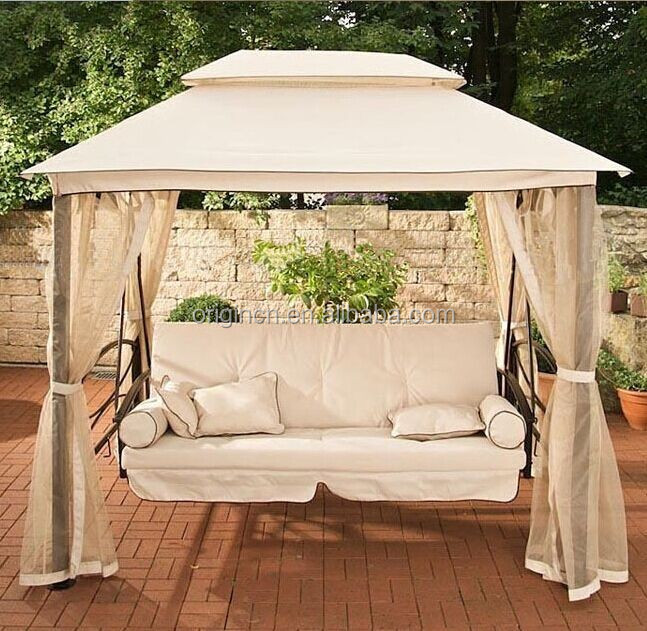 luxury indian style hanging chair for adults with double canopy folding outdoor swing bed buy. Black Bedroom Furniture Sets. Home Design Ideas