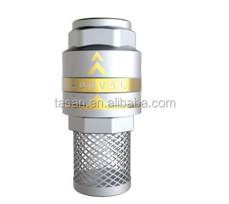 S4182B water check valve with SS304 mesh brass core spring Brass Foot Valve
