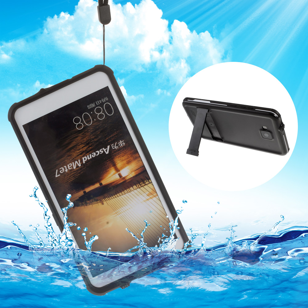 IP68 Smart Cover Skin Shockproof Waterproof Case for Huawei Ascend Mate 7