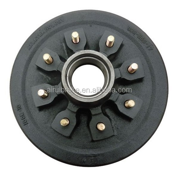 "Trailer Hub Drum Assembly 7,000lb <strong>Axle</strong> 12"" Diameter 8 on 6-1/2"