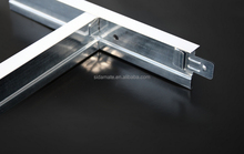 New arrival!H38/T24 black groove t grid ceiling tee system low price stock