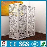 freestanding carbon iron laser cut hotel room dividers