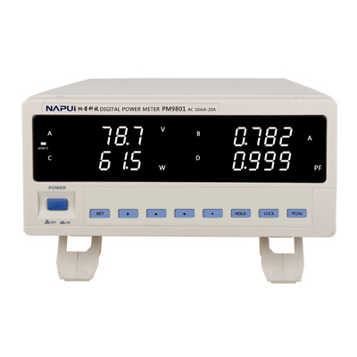 Bench TRMS Voltage Current Power Factor & Power Meter Analyzer Tester Alarm Function AC110-240V