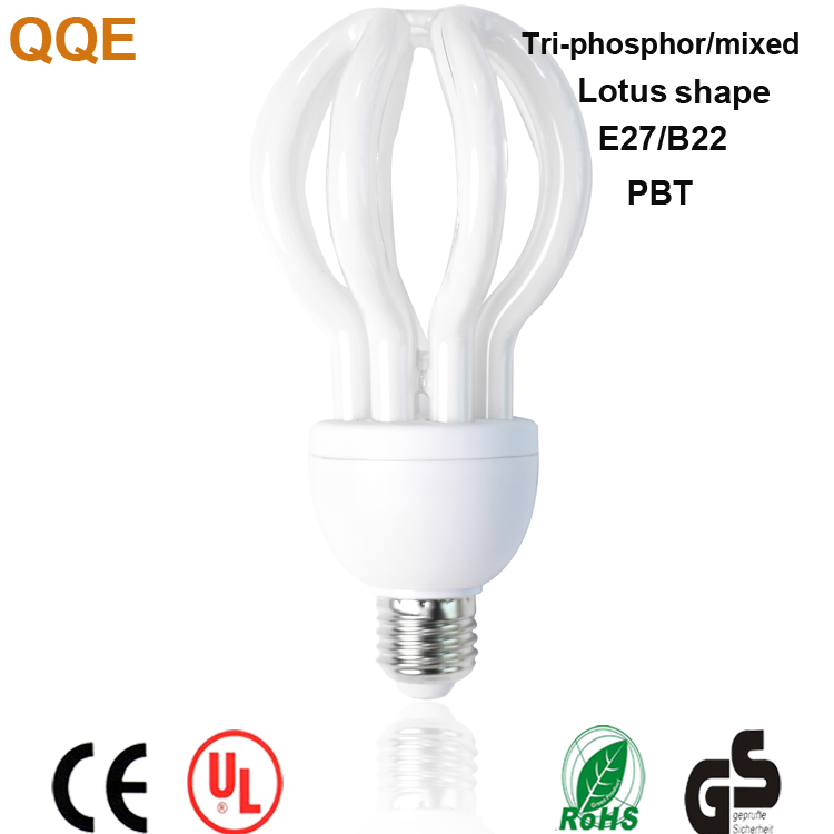 Best seller China supplier factory price lotus shape compact fluorescent CFL skd 105w energy saving lamp