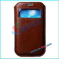 BRG-Wholesale function color custom pu leather case pouch for samsung galaxy s4 i9500