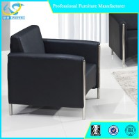 Modern executive used leather sofa single office sofa