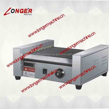 automatic hot dog roasting machine|five rollers hot dog warming and toasting machine