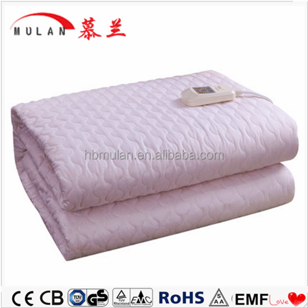 100% cotton fabric cheap electric blanket with heating element