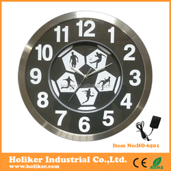 2016 new product digital big size wall clock with LED