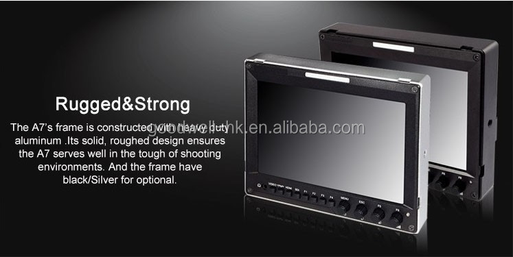2016 New Metal Case Design Advanced Functions Vector scope ,Waveform IPS 7 Inch 3G HD SDI Monitor