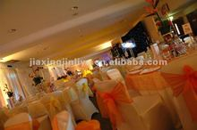 2012 fashion western disposable organza fabric chair sash for wedding banquet meeting decoration
