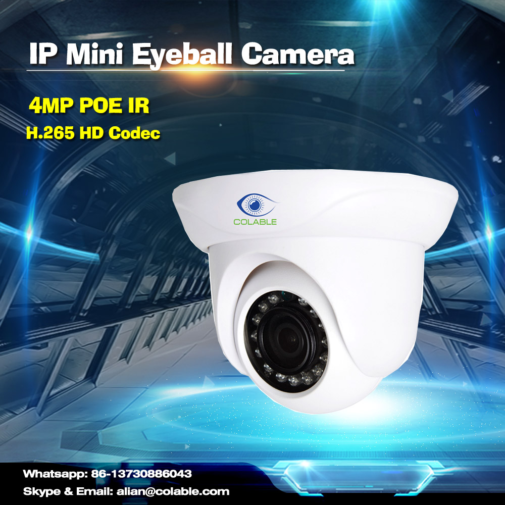 4MP H.265 Mini IR Eyeball Camera dome 1080p webcam for security and protection