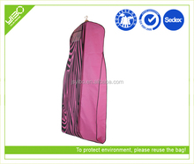 Customized logo reusable foldable oxford extra wide dress garment cover bag