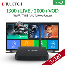 Dalletektv Best IPTV Set Top Box X98 PRO Android Media Player S912 Octa Core 3G RAM with QHDTV IPTV Subscription 12 Months