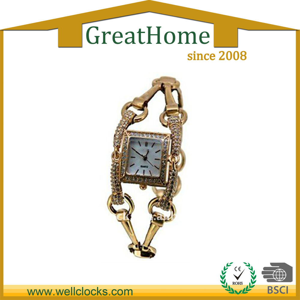 hot sale fashion Square face bracelet watch for ladies