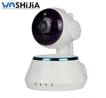 night vision infrared p2p ip camera mini camera with speaker rj45 work with wifi or cable