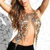 Fashion Handmade Beach Party luxury Gold metal Sequins Body Jewelry