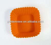 small square shaped silicone mini cupcakes cake muffin pudding jelly baking cup pan mold mould mode bakeware