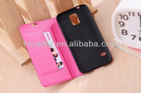 Flip stand PU wallet case for Samung galaxy S5; retro PU case for Samsung i9600