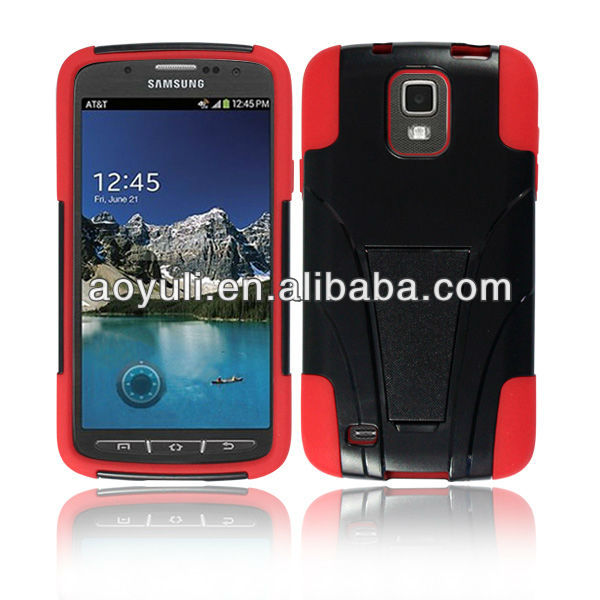 for samsung i537 galaxy s4 active case, kickstand combo case cover