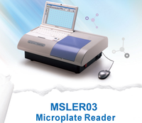 Clinical / Hospital Microplate Reader / Elisa Reader and Washer with Color LCD Screen MSLER03T