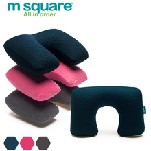 Wholesale m square brand funny U shape travel folding inflatable neck pillow for airplanes