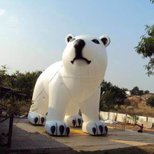 Hot sell inflatable polar bear cartoon model,giant inflatable bear,giant inflatable white bear for sell
