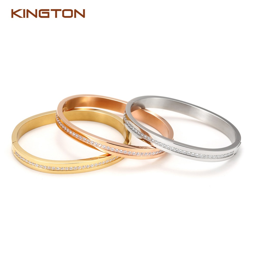 gold plated bangle stainless steel <strong>jewelry</strong>