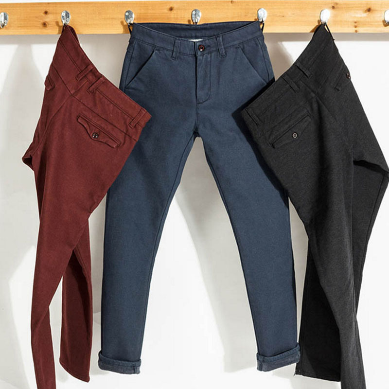 MSW0039 men's casual pants thickened worsted pants high-end pants