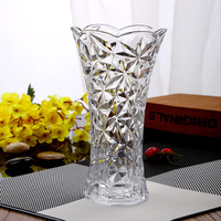 Home decor tall vase 30 cm high glass vase