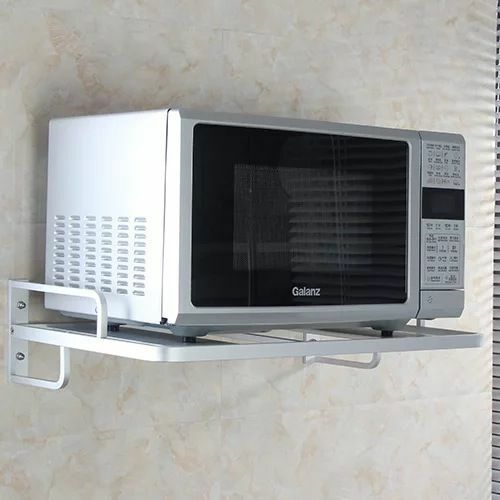 Wall Mounted Microwave Oven Holder Microwave Oven Grill Rack Kitchen Storage Holders and Racks