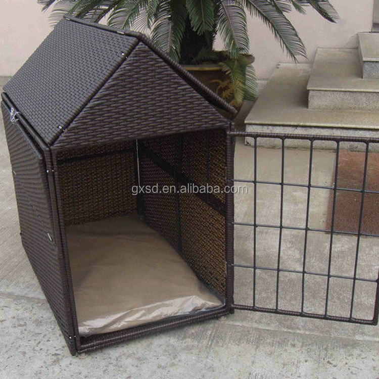 Best wicker & metal craft outdoor cat or dog using waterproof pet house
