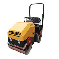 Hot selling gasoline engine smooth wheel road roller