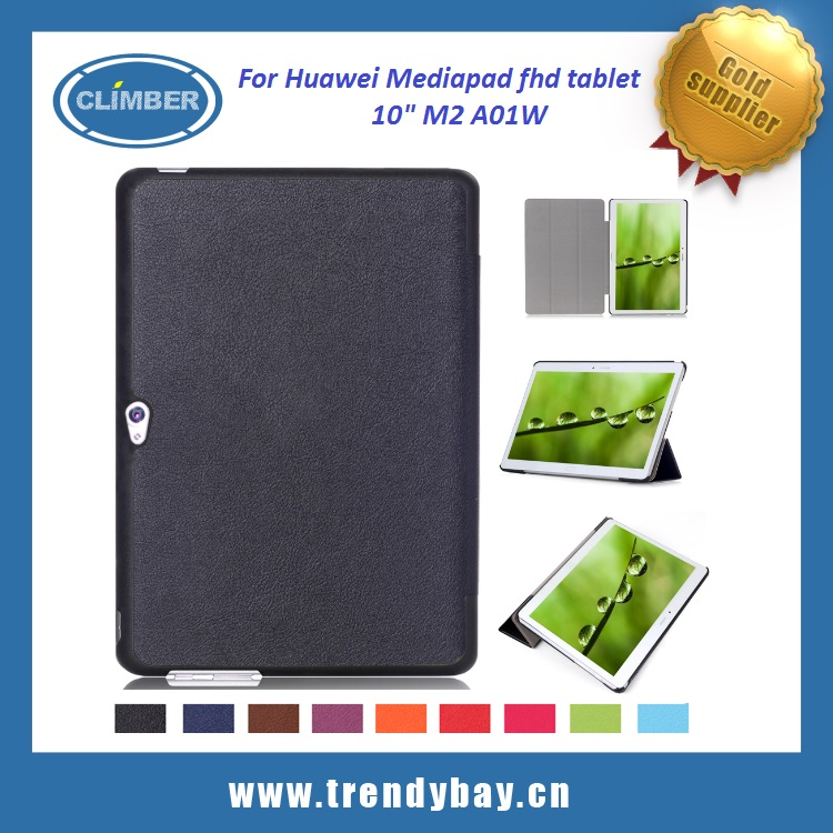 Portable case cover for huawei mediapad 10 fhd tablet M2 10.0 inch