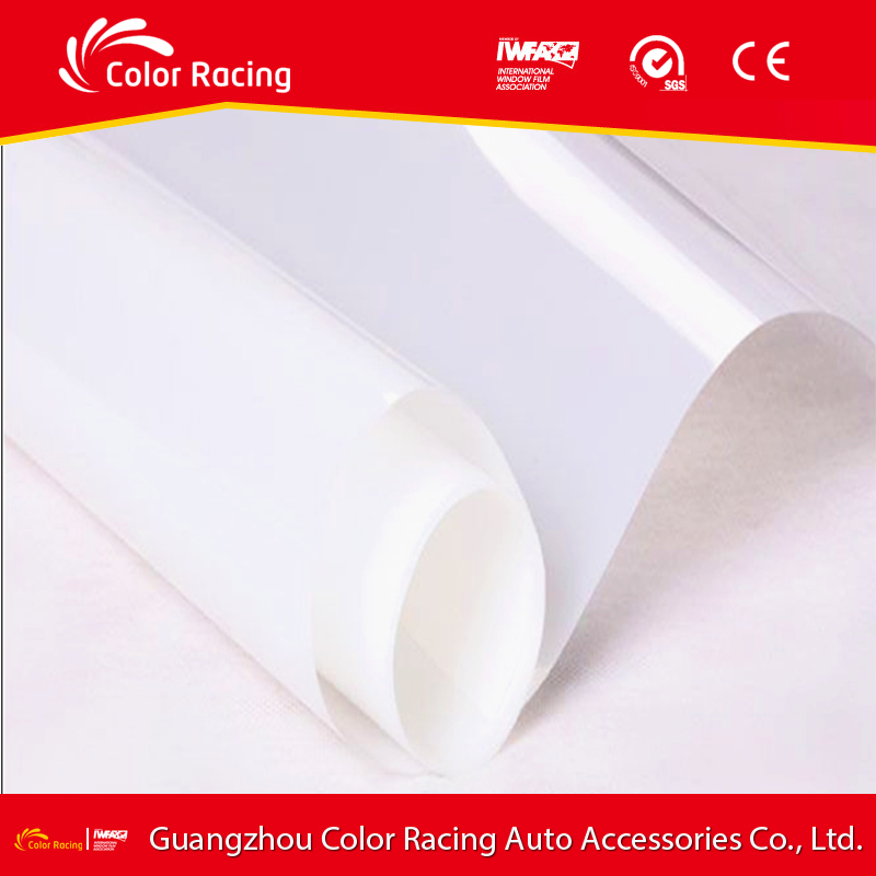 Heat protection coating for glass one way mirror semi transparent mirror building film