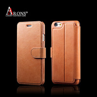 Ultra-slim mobile phone wallet case for iphone 6s leather flip case