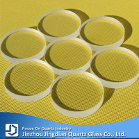 Clear flat fused silica quartz glass plate display window