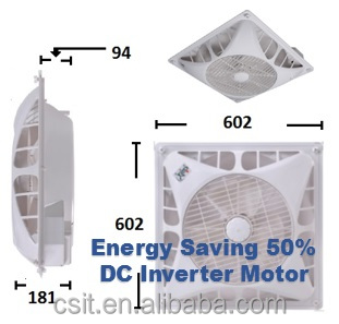 Ceiling Tile Box office Circulation Fan Y14-DC 100-240 (DC inverter Motor)