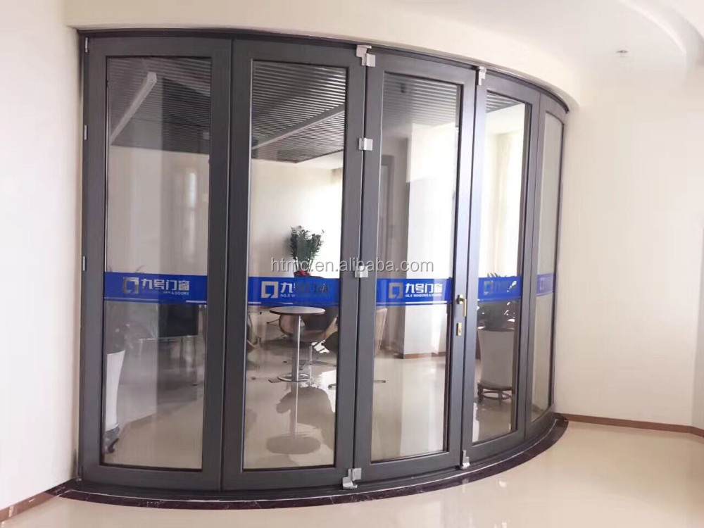American Style Customized Aluminum Curved Folding Door