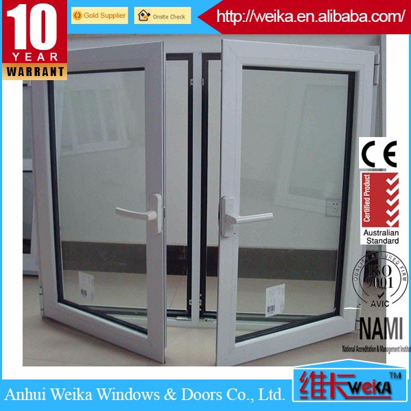 Modern windows aluminium window screen french casement window in china