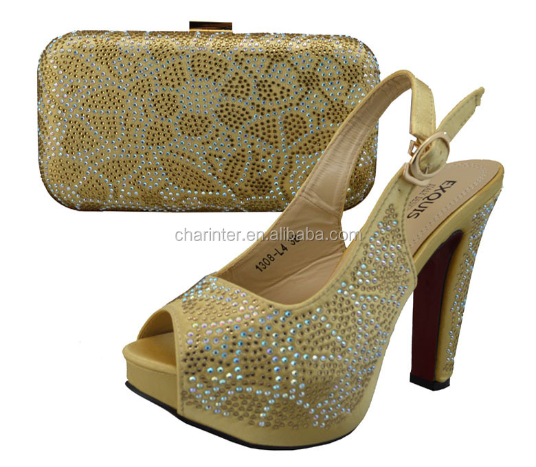 2017 New Design Italian Las Shoeatching Bags Women Shoes Whole Made