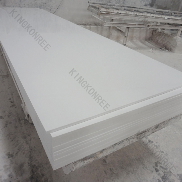 White Artificial Stone Slab Solid Surface ,Factory Artificial Marble Stone Slabs , Man made Solid Stone Shower Base