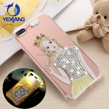 Bling Bling Design Light Up Flash LED Diamond Case For iphone 7 Cute Cover