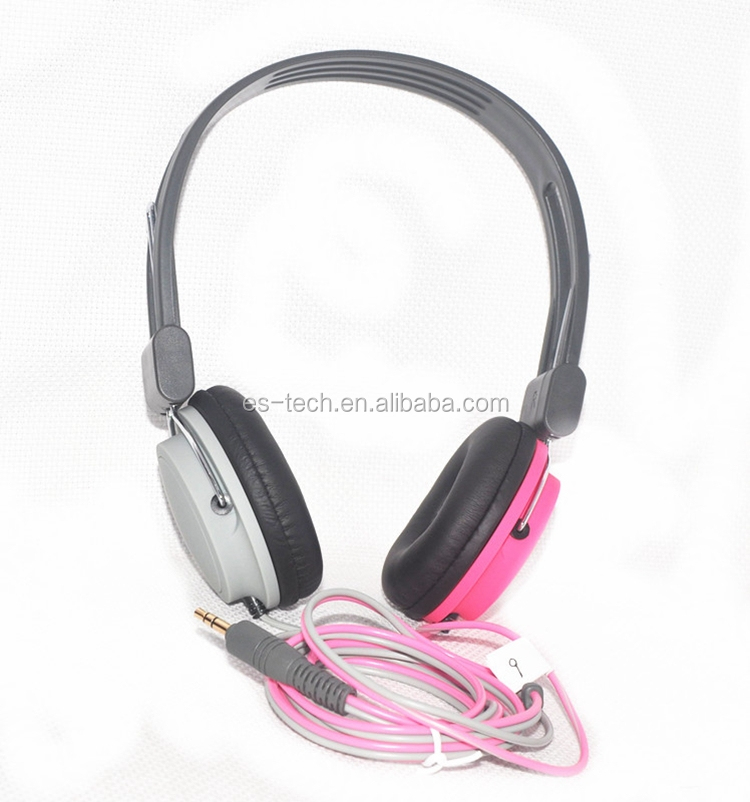 3.5mm pin stereo headset OEM promotion headphone factory cheap head phone