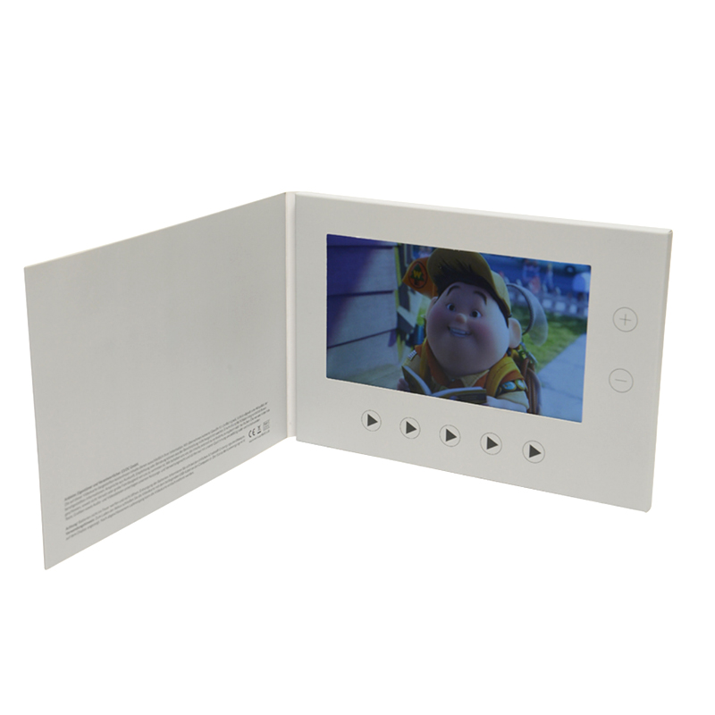 Promotional lcd screen e greeting cards video brochure birthday greetings