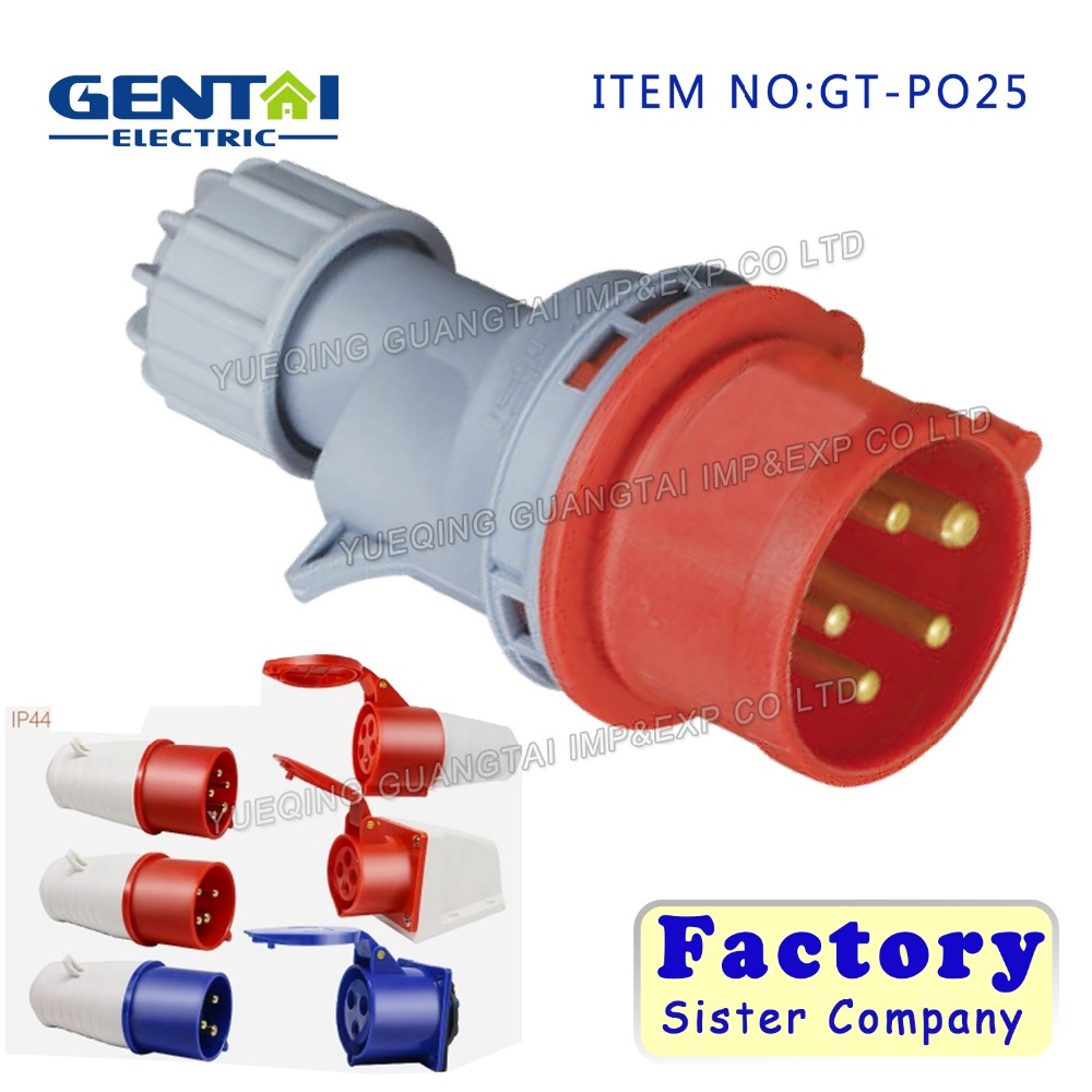 16A32A 3P+N+E Open installation Industrial Plug And Socket Connector