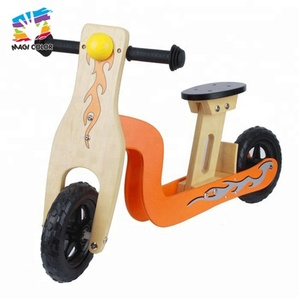 High quality small wooden balance bicycles for children W16C056