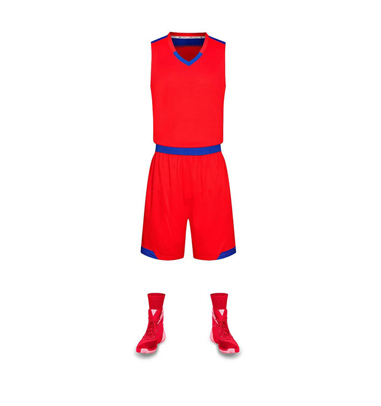 Top Quality Basketball Jersey Uniform Design Color Red